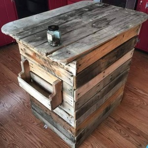 reclaimed pallet wood kitchen island