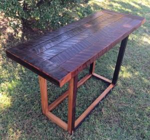 Custom Reclaimed Wood Side Table.