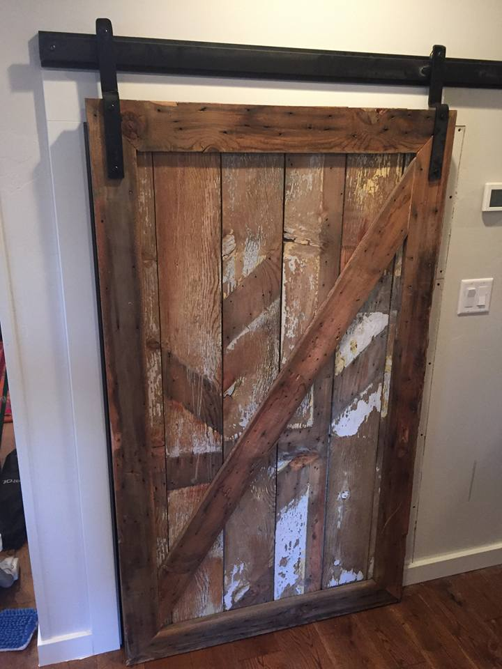 Large barn door made from reclaimed barn wood scavenger for Reclaimed wood bend oregon