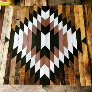 Aztec/Native American inspired design for coffee table top