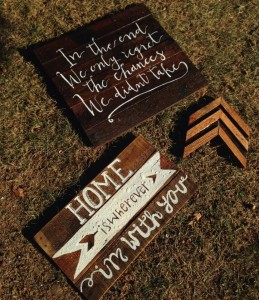 Hand painted reclaimed wood signs in Owensboro, Kentucky