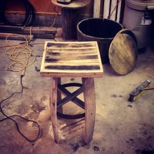 bourbon barrel stool