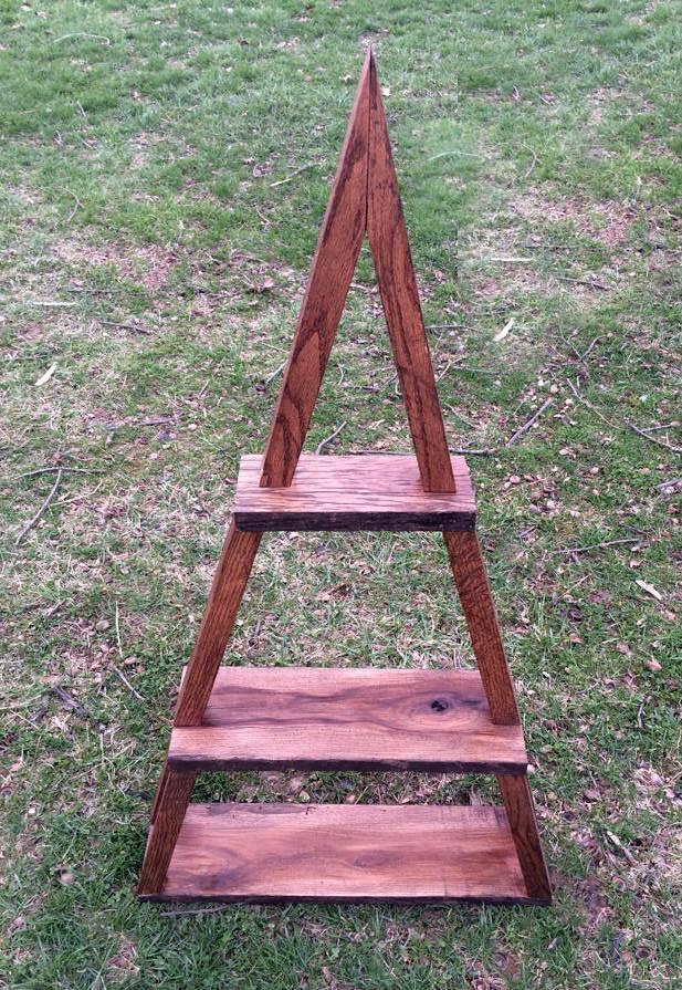 Triangle shelf2 scavenger woodworks for Reclaimed wood furniture bend oregon