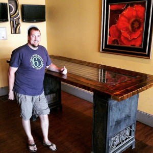 Reclaimed Wood Bar Table in Bend, Oregon