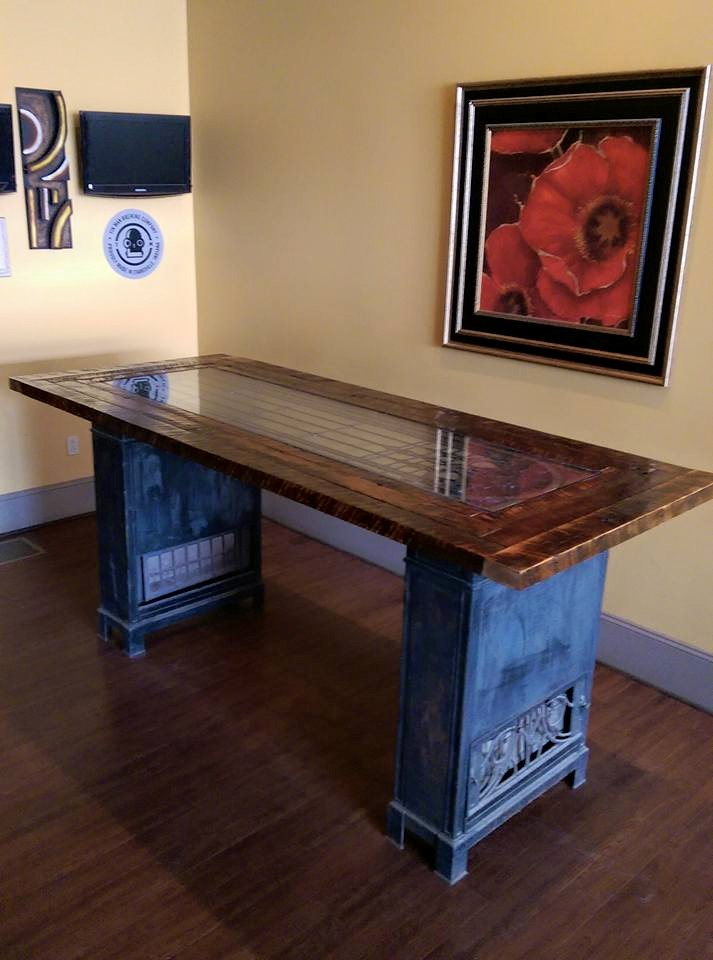 Large Bar Table Top for Gambrinu's Libation Emporium in Owensboro, Kentucky.