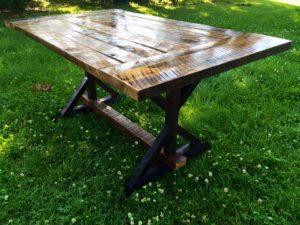 Custom reclaimed Barn wood Dining Farm Style Table.