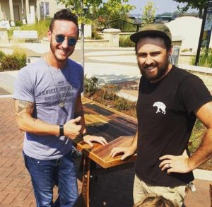Proud owner of a custom reclaimed wood table by Scavenger Woodworks